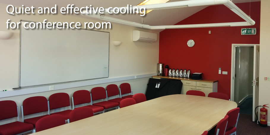Quiet and effective cooling for conference room