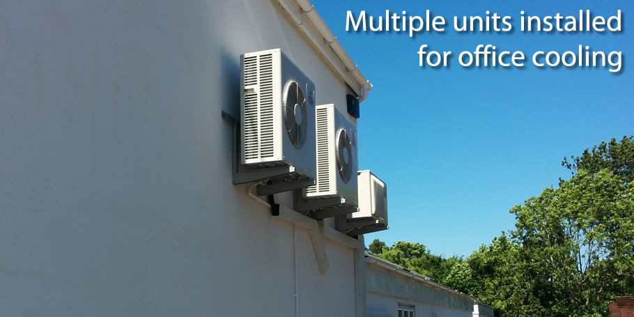 Multiple units installed for office cooling