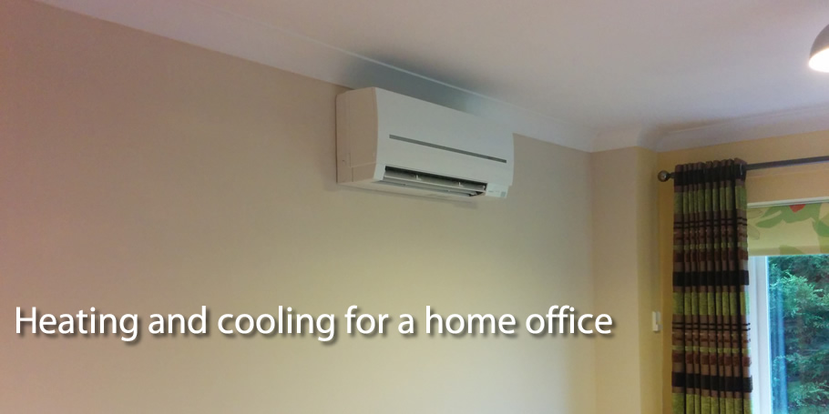 Heating and cooling for a home office