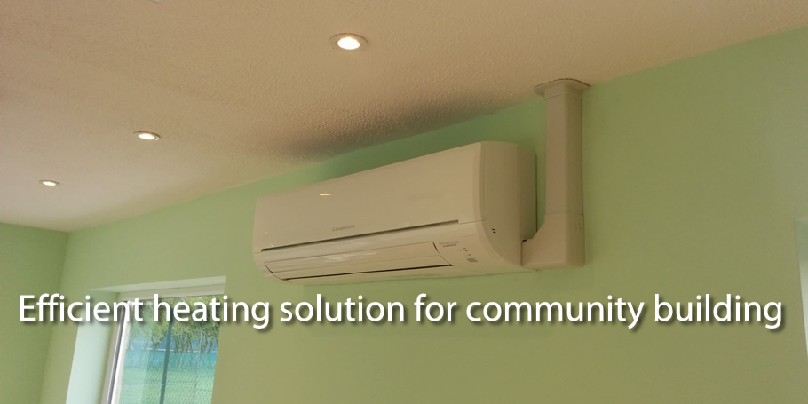 Efficient heating solution for community building