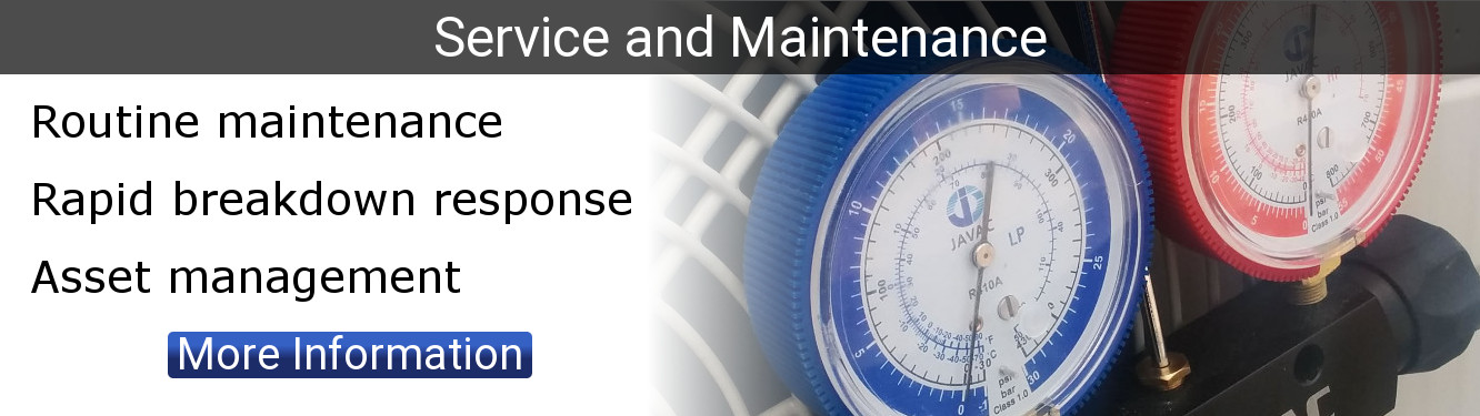Routine maintenance. Rapid breakdown response. Asset management. Click for more information.